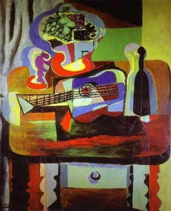 A cubist painting by Picasso