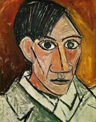 Picasso self-portrait, cubism