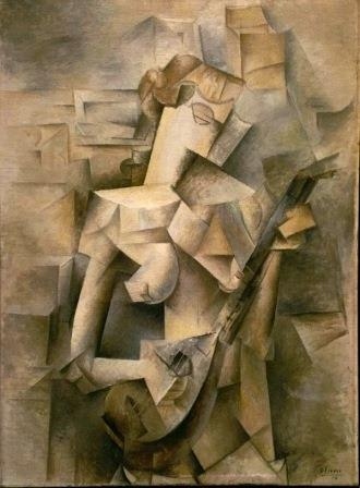 Woman with a guitar by Picasso (cubism)