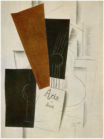 Aria de Bach By Braque, 1913 (cubism)