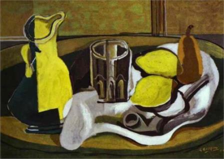 Lemons by Braque, 1929 (cubism)