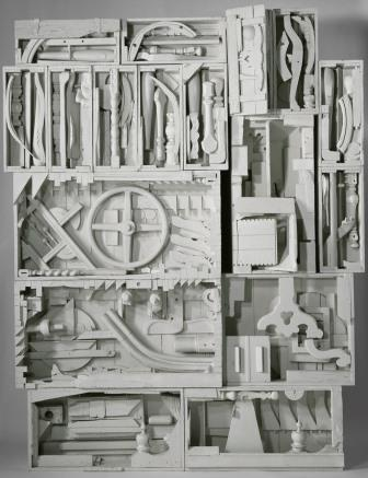 A collage by Louise-Nevelson
