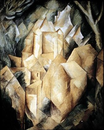 Houses at L'Estaque by Braque, 1908 (cubism)