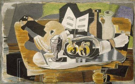 """The table"" still life, 1928 (Georges Braque) (cubism)"