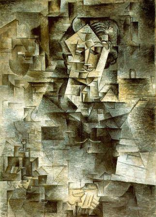 Daniel Henry Kahnweiler by Picasso (1910) (analytical cubism)