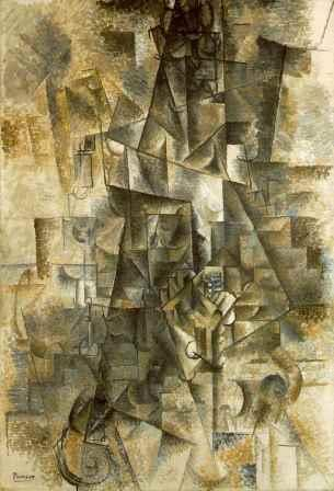 The Accordionist by Picasso (1911) (analytical cubism)