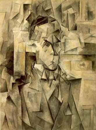 A portrait of Wilhelm Unde by Picasso (1910) (Analytical Cubism)