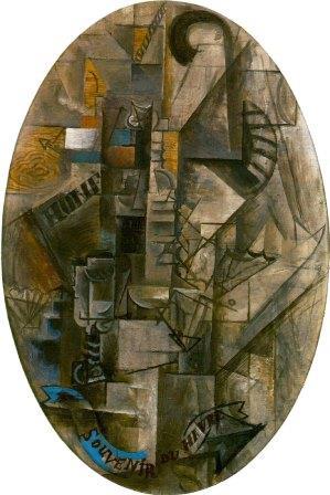 Pablo Picasso - Souvenir du Havre (1912) (synthetic cubism)