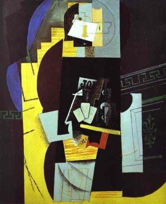 The Card Player by Picasso (Synthetic Cubism)