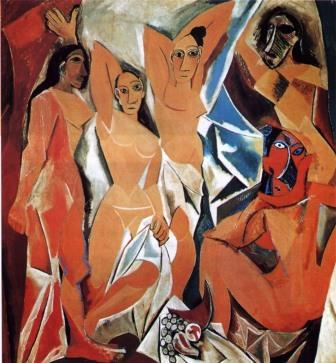 Les Demoiselles d'Avignon (1907) (Picasso African Period)