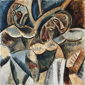 Picasso - three figures under a tree (African Period)