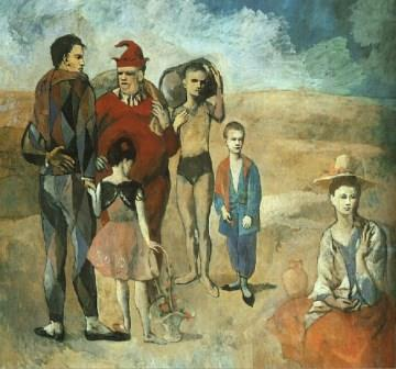 Family of Saltimbanques by Pablo Picasso (1905)